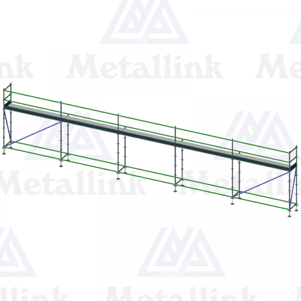 15m Ringlock Scaffold / Scaffolding Package, Single Level