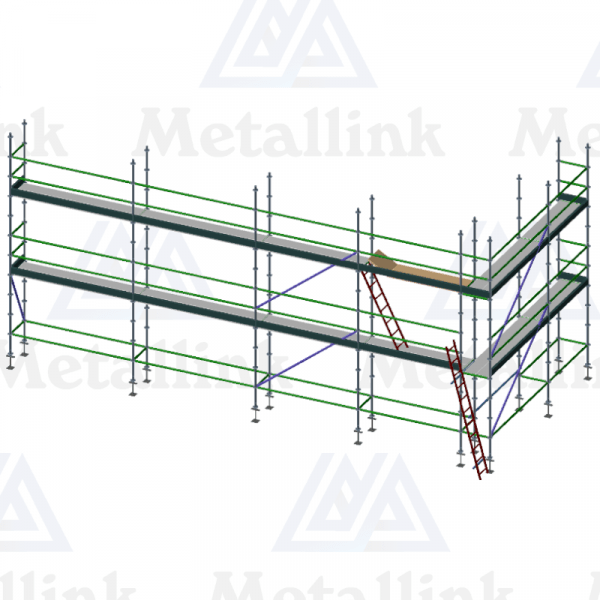 16m Ringlock Scaffold / Scaffolding Package, Double Level
