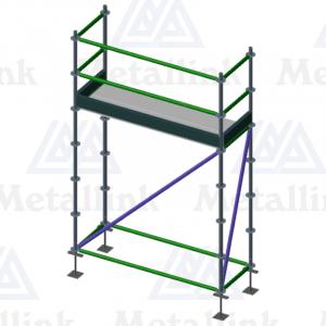 2m Ringlock Scaffold / Scaffolding Package, Single Level