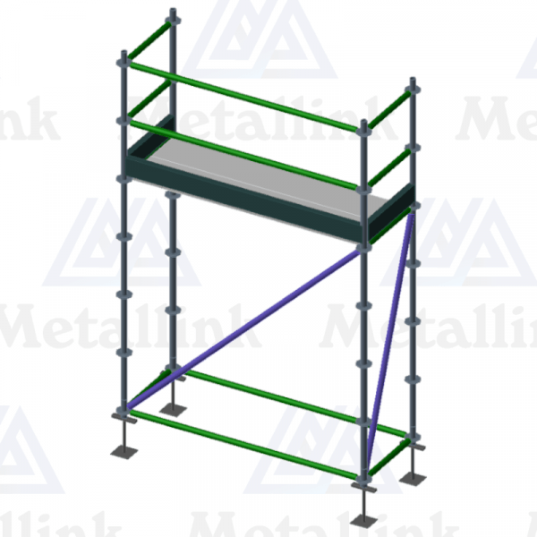 2m Ringlock Scaffold / Scaffolding Package, Single Level