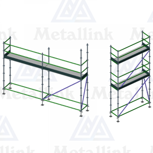 Transforming Ringlock Scaffold / Scaffolding Package, 2.5m Double Level, 5m Single Level