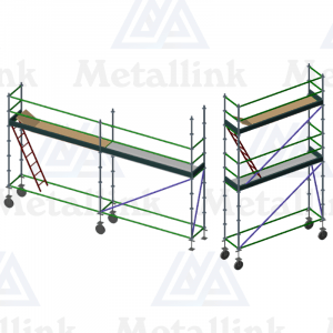 Transforming Ringlock Scaffold / Scaffolding Package, 3m Double Level, 6m Single Level