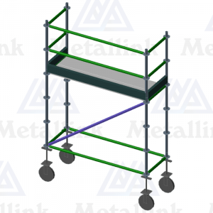 2m Mobile Ringlock Scaffold / Scaffolding Package, Single Level, on Wheels