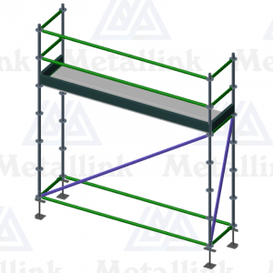 3.07m Ringlock Scaffold / Scaffolding Package, Single Level