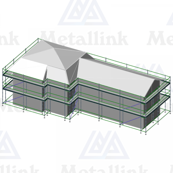 3D model of a for-sale scaffold, 57m, ringlock, 2-level.