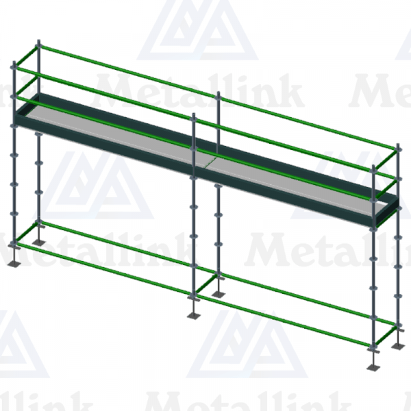 6m Ringlock Scaffold / Scaffolding Package for indoor use, Single Level