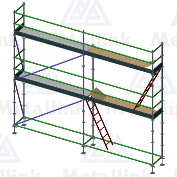A two-storey 6m-long ringlock scaffold for sale.