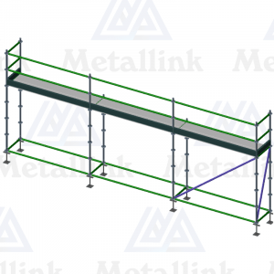 Diagram of a 7.5m one-storey ringlock scaffold for sale.