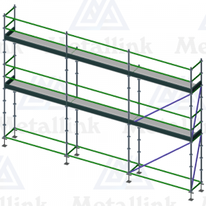 Two-storey 7.5m ringlock scaffolding for sale.