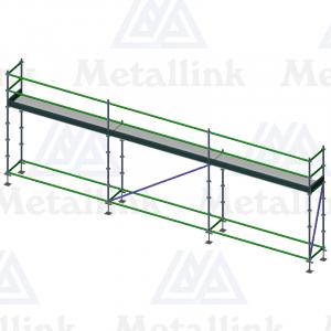 9m Ringlock Scaffold / Scaffolding, Single Level