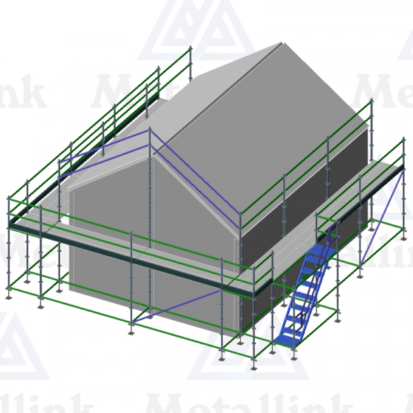 Buy roof edge protection scaffolding according to this diagram.