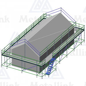 Roof edge protection scaffold for sale, covering an entire home.
