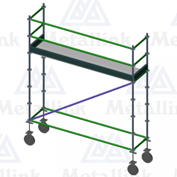 Deck-Height Mobile Scaffold, 3m, Single Level